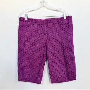 Laundry 70's hexagonal print Bermuda shorts